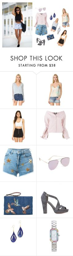 """Crazy Outfit..**"" by yagna ❤ liked on Polyvore featuring Free People, Jacquemus, Chiara Ferragni, Le Specs, RED Valentino, Tila March, Aurélie Bidermann, Marc Jacobs and vintage"