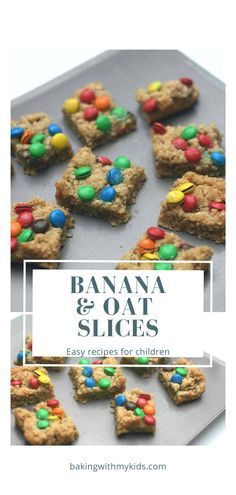 Banana and chocolate chip slices are a delicious way of using up leftover bananas and a great way of getting little hands messy in the kitchen. #recipe #easy #traybake #slice #oats #banana #oat slice #maryberry #kids #baking #baking with toddlers #baking with kids #preschool activity Oat Slice, Banana Oats, Mary Berry, Baking With Kids, Toddler Fun, Tray Bakes, Baking Recipes, Chocolate, Chocolates