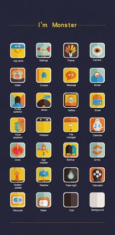 《华为Emotion UI手机主题设计大赛》参赛作品 Im moster by pussmiao