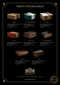 KOLUMBUS humidors: Hand-made, individually, crafted using only the finest materials.