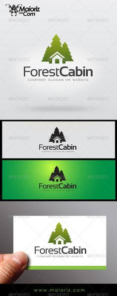 Forrest Cabin Logo Design Template Vector #logotype Download it here:  http://graphicriver.net/item/forrest-cabin/7138452?s_rank=739?ref=nexion