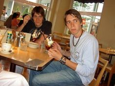 James and Oliver Phelps. Love this picture.