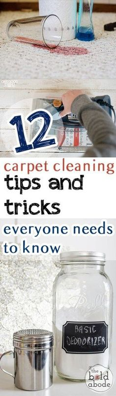 12 Carpet Cleaning Tips and Tricks Everyone Needs to Know Cleaning Recipes, Diy Cleaning Products