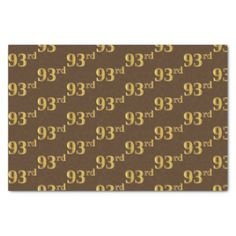 Brown Faux Gold 93rd (Ninety-Third) Event Tissue Paper - craft supplies diy custom design supply special