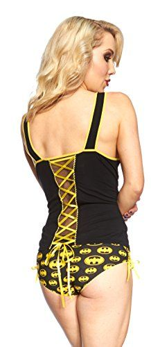 DC Comics Batgirl Lace Up Cami Panty Set - Just naughty enough :) | Geek Armory