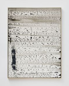Sam Moyer, Breakers III, 2014, glass, glass paint, painted fabric, and brass frame, 72.5 x 54.5 inches