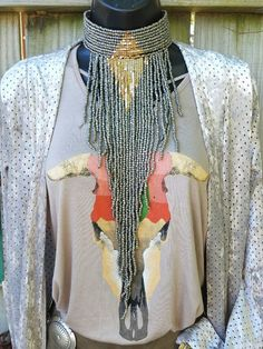 COWGIRL Gypsy  Bling gun metal choker beads  fringe Southwestern NECKLACE  | Jewelry & Watches, Fashion Jewelry, Necklaces & Pendants | eBay!