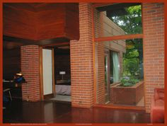 Two Rivers, Wisconsin. Usonian House, Frank Lloyd Wright Homes, Clerestory Windows, Radiant Floor, Flat Roof, Interior And Exterior, Home And Family, House Design, Rivers