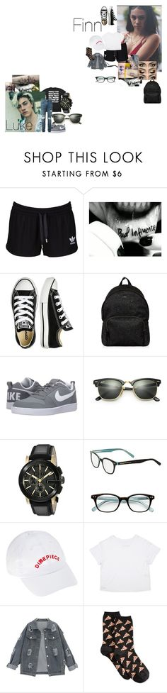 """All Good Girls like Bad Boys"" by teylorann on Polyvore featuring adidas Originals, Converse, Hogan, NIKE, Ray-Ban, Gucci, Kate Spade, Dimepiece, HOT SOX and AMIRI"