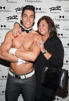 Abby Lee Miller, star of TV's Dance Moms, was a celebrity guest at the Chippendales review at The Rio All Suite Hotel in Las Vegas on July 18, 2013 (Photo credit: © Scott Harrison/ RETNA/ www.harrisonphotos.com).