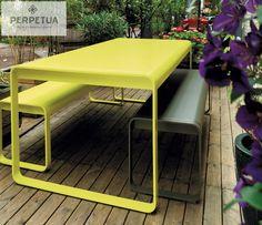 ®Perpetua muebles   #perpetua #muebles #aluminio #mesa #electropintado #comedor #banca  Más información o catálogo completo www.perpetuamuebles.com