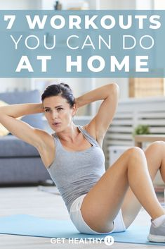 Stuck at home? Self-quarantining? These 7 at-home strength workouts will help keep your sane as you get your sweat on in the comfort of your own home. Mini Workouts, Workouts For Teens, Killer Workouts, Quick Workouts, Core Workouts, Ab Core Workout, Calisthenics Workout, Strength Workout, Best At Home Workout