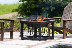 Fire Sense 28 in. Square Convertible Fire Pit Table - Hammertone Bronze - The Fire Sense 28 in. Square Convertible Fire Pit Table - Hammertone Bronze is your perfect companion for backyard entertaining. The gorgeous hammerto.