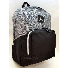 Nike Air Jordan Black and Gray Backpack 9A1347-000 at OrlandoTrend.com ba79faa141297