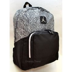 Nike Air Jordan Black and Gray Backpack 9A1347-000 at OrlandoTrend.com