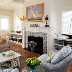 Beach House Fireplace Design, Pictures, Remodel, Decor and Ideas - page 6