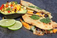 Black Bean & Sweet Potato Quesadillas with Roasted Corn Salsa - GlutenFreeClub