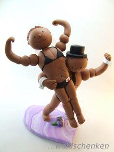 Tortenfigur Tortenfiguren Brautpaar Bodybuilder
