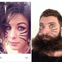 Sex hair don't care #yeahyeah #whatsuppussycat #meow #messyhair #downthere #textagetsarun #catpeople #beards #single #tinder #swiperight #swipeleft #hottips #catnips
