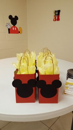 Mickey Treat Bags Set of 10 by ButterflyEffects1 on Etsy