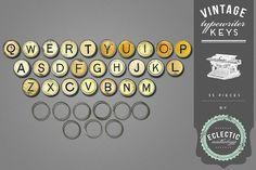 Vintage Typewriter Key Graphics @creativework247