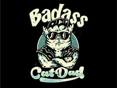 cat dad by Tomie o Cat Dad, Badass, Cats, Creative, Design, Gatos, Kitty Cats, Cat Breeds, Kitty