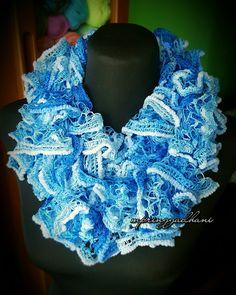 Crochet Ruffled Scarf by MPringgadhani