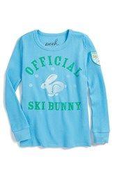 Peek 'Ski Bunny' Long Sleeve Thermal Tee (Toddler Girls, Little Girls & Big Girls)