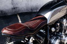 Garagem Cafe Racer : Ton Up: CB 750 by Ireful Motorcycles Cb750 Cafe Racer, Cafe Racers, Gs 500 Cafe Racer, Cafe Racer Seat, Inazuma Cafe Racer, Cafe Racer Girl, Cafe Racer Bikes, Cafe Racer Build, Moto Guzzi