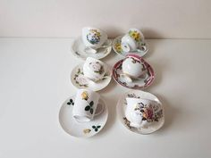 Mix vintage // mix thee kop en schotel// vintage// brocant// cadeau//Engelse stijl// set van 6 // bruiloft// high tea// vintage thee kop High Tea, Decorative Plates, Vintage, Etsy, Tea, Tea Time