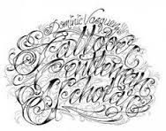 Image result for gangster letter tattoo