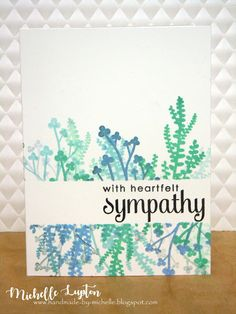 Handmade by Michelle: Sympathy cards