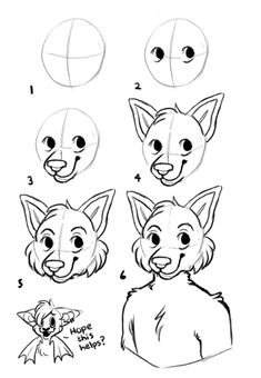 How to draw furry head