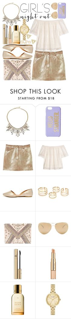 """""""Girls' Night Out: Summer Edition (2)"""" by estefanifashion ❤ liked on Polyvore featuring ABS by Allen Schwartz, Kate Spade, MANGO, H&M, Qupid, LULUS, Loewe, D&G, Estée Lauder and Mateo"""