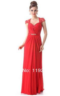 Free Shipping Custom Made Charming Sexy Sweetheart Chiffon Prom Dresses  2014 Floor Length A-line 3bb0f83ed171