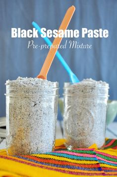 Ever wonder how to make Black Sesame Paste at home? How about making an easy pre-prepared mixture that can be stored up to a few months? Here is the recipe! Great Desserts, Delicious Desserts, Yummy Food, Dairy Free Recipes, Vegan Recipes, Copycat Recipes, Sweets Recipes, Baking Recipes, Black Sesame Paste
