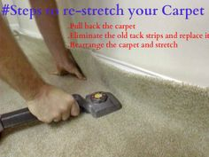 Pull back the carpet-At first, lift one corner of the carpet with the help of pliers and then gently ease it free of the tack strip.