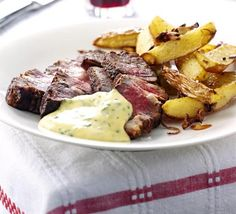 Rib-eye steak with basil hollandaise - This turned out yummy but it's not very healthy. So we won't be making it often but it is good. =)