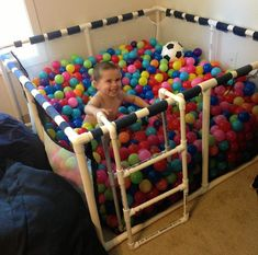 home ball pit or make it a large play pen with a homemade pillow mat for the bottom!