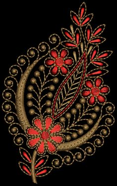 butta – Tedeex Source by rajanimahesh Border Embroidery Designs, Kurti Embroidery Design, Floral Embroidery Patterns, Hand Embroidery Videos, Hand Work Embroidery, Embroidery Applique, Peacock Wall Art, Uncommon Threads, Bordado Floral