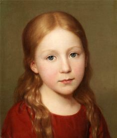 August von der Embde (German,1780–1862)-Портрет дочери художника - Caroline von der Embde ,1818 Painting For Kids, Art For Kids, Children Painting, German, Portrait, Paintings, Art, Youth, Childhood