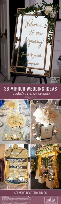 5037 best wedding decorations images on pinterest 36 fabulous mirror wedding ideas junglespirit Gallery