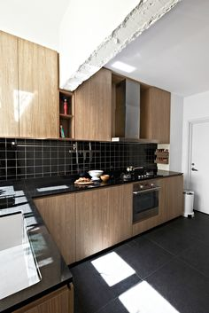 Practical, clean - consider black flooring for kitchen