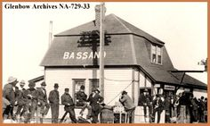 BASSANO,  Alberta - Canadian Pacific Railway Station - Glenbow Museum - Second Empire Style architecture