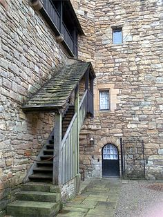 Courtyard covered stairs Dean Castle, Local History, Ancestry, Scotland, Stairs, Architecture, Awesome, Ideas, Arquitetura