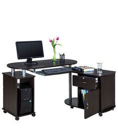 Cathy Computer Table in Chocolate Colour by Royal Oak