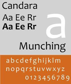 Font Candara Specimen Sample selection: www.rotterdam-vormgeving.nl