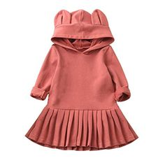 Wesracia Toddler Baby Girls Multicolor Dot Bow Dress Sundress Ruffles Dress