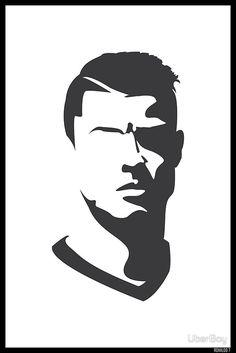 'Cristiano Ronaldo Vector Portrait' Poster by UberBoy Cristino Ronaldo, Ronaldo Football, Cristiano Ronaldo Juventus, Neymar, Pencil Art Drawings, Art Drawings Sketches, Art Football, Cr7 Wallpapers, Cristiano Ronaldo Wallpapers