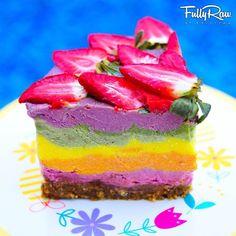 FullyRaw Rainbow Cake: a slice of heaven (raw, vegan).